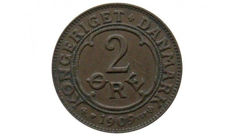 Дания 2 эре 1909 г.