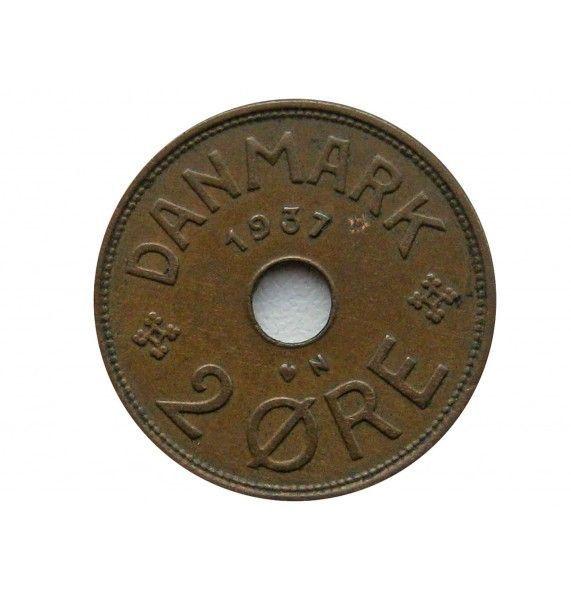 Дания 2 эре 1937 г.