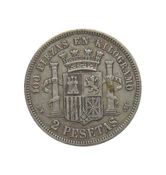 Испания 2 песеты 1870 (74) г. DE-M