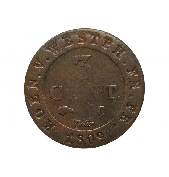 Вестфалия 3 сантима 1809 г.