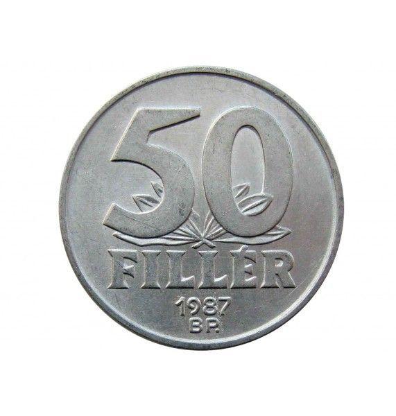 Венгрия 50 филлеров 1987 г.