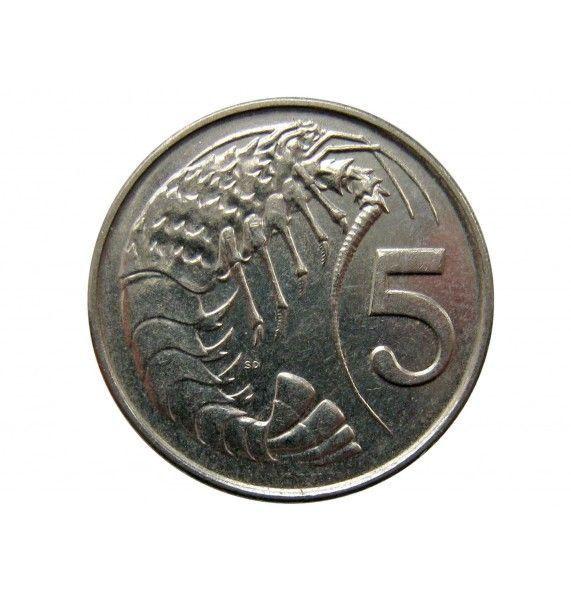 Каймановы острова 5 центов 1992 г.