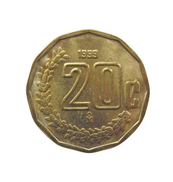 Мексика 20 сентаво 1999 г.