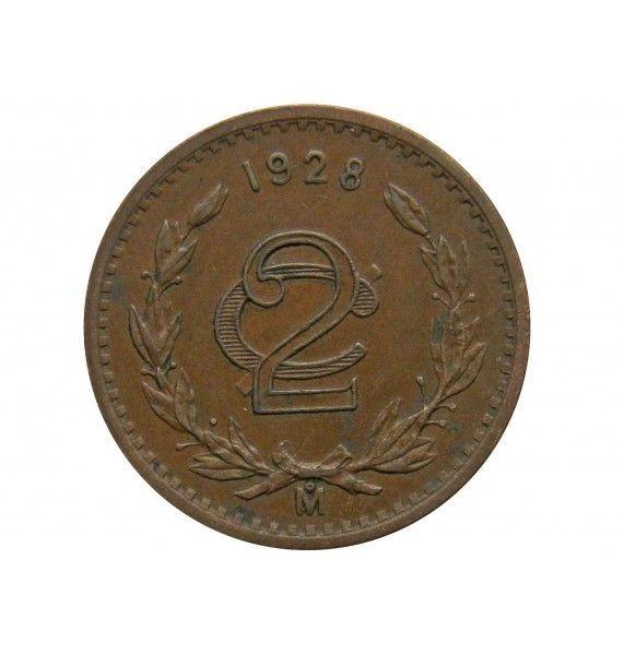 Мексика 2 сентаво 1928 г.