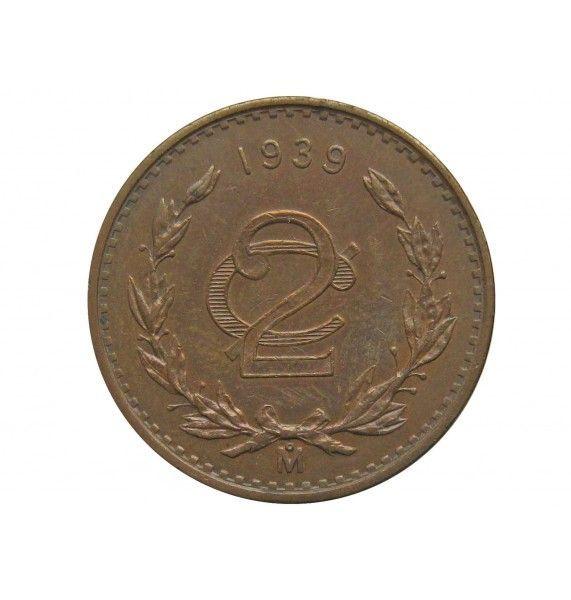 Мексика 2 сентаво 1939 г.