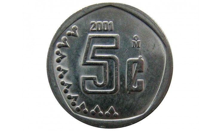Мексика 5 сентаво 2001 г.