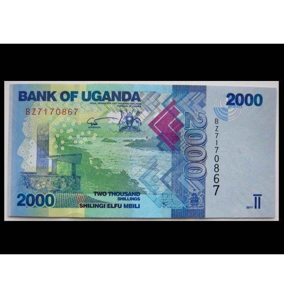 Уганда 2000 шиллингов 2017 г.
