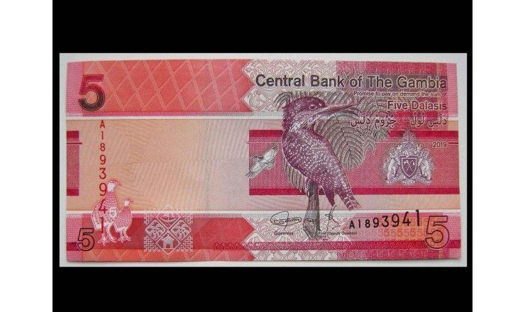 Гамбия 5 даласи 2019 г.