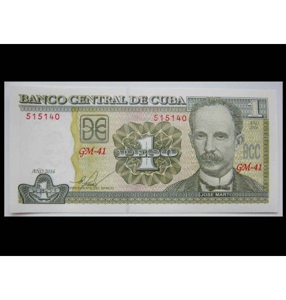 Куба 1 песо 2016 г.