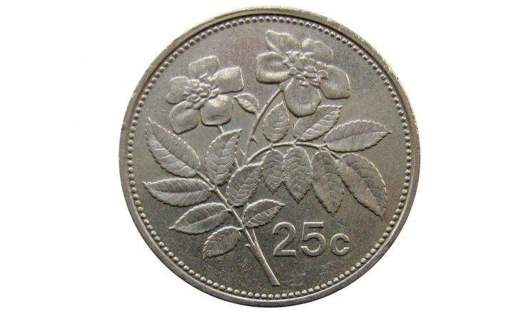 Мальта 25 центов 2001 г.