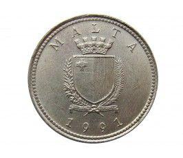 Мальта 2 цента 1991 г.