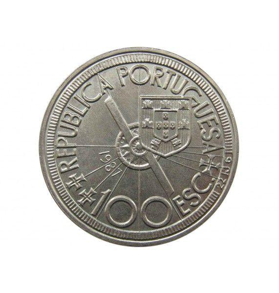 Португалия 100 эскудо 1987 г. (Диогу Кан)