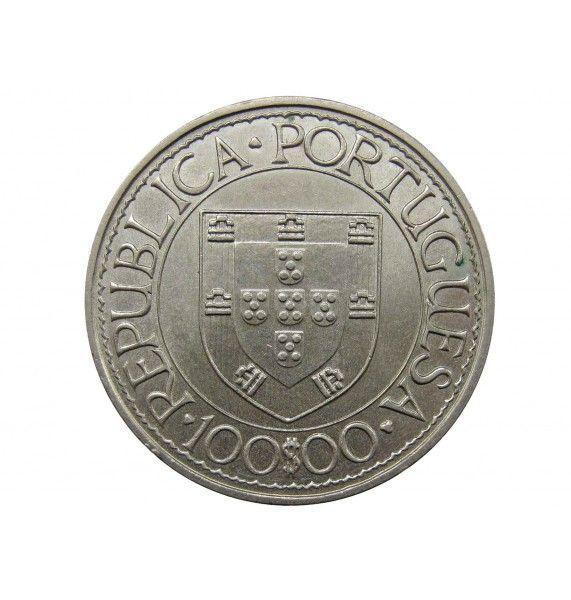 Португалия 100 эскудо 1988 г. (Бартоломеу Диаш)