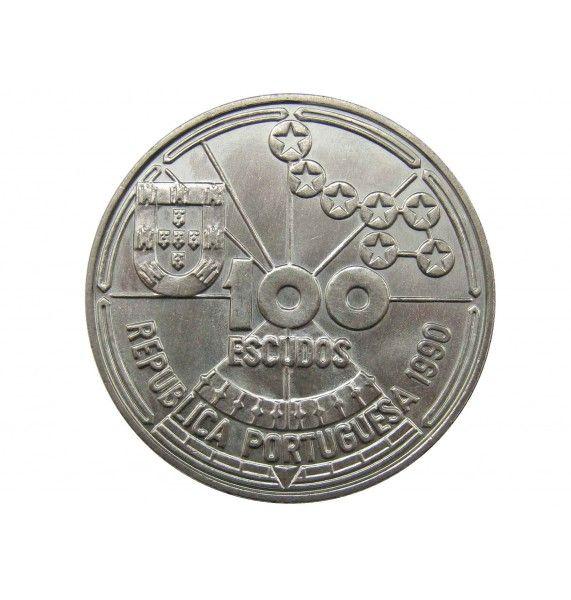 Португалия 100 эскудо 1990 г (Астрономическая навигация)