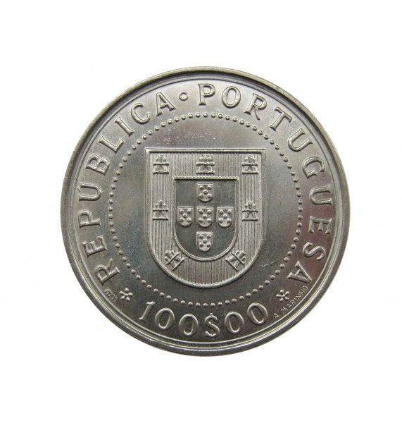 Португалия 100 эскудо 1990 г. (350 лет со дня восстановления независимости Португалии)