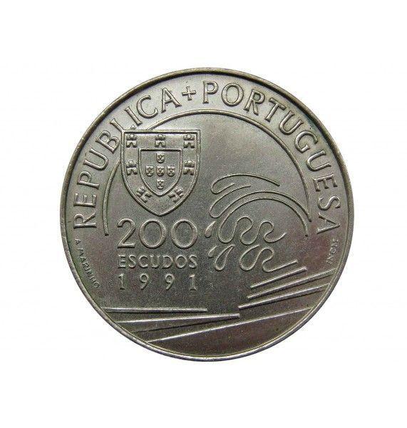 Португалия 200 эскудо 1991 г. (Христофор Колумб в Португалии)