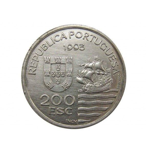 Португалия 200 эскудо 1993 г. (Японская миссия в Европе 1582-1590 гг.)