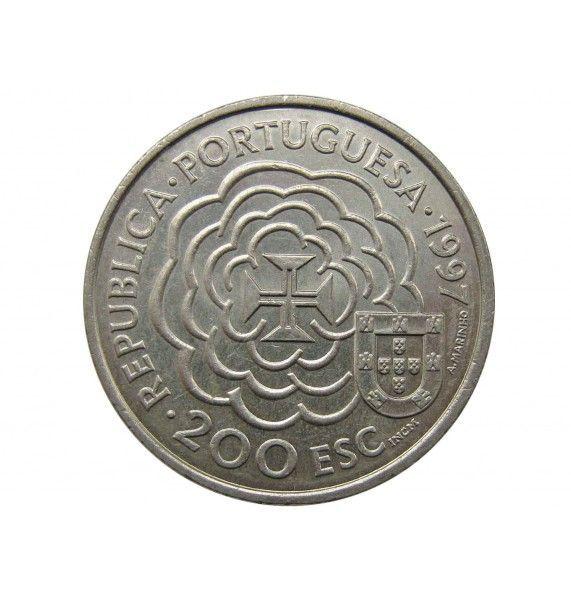Португалия 200 эскудо 1997 г. (Бенто де Гоис - карта Китая)