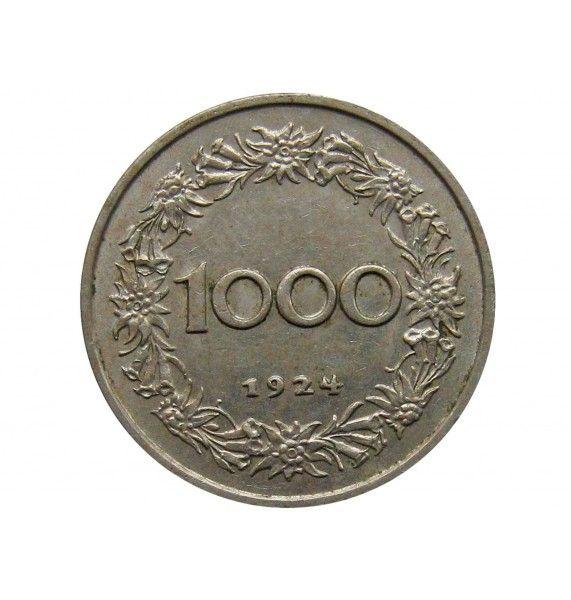 Австрия 1000 крон 1924 г.