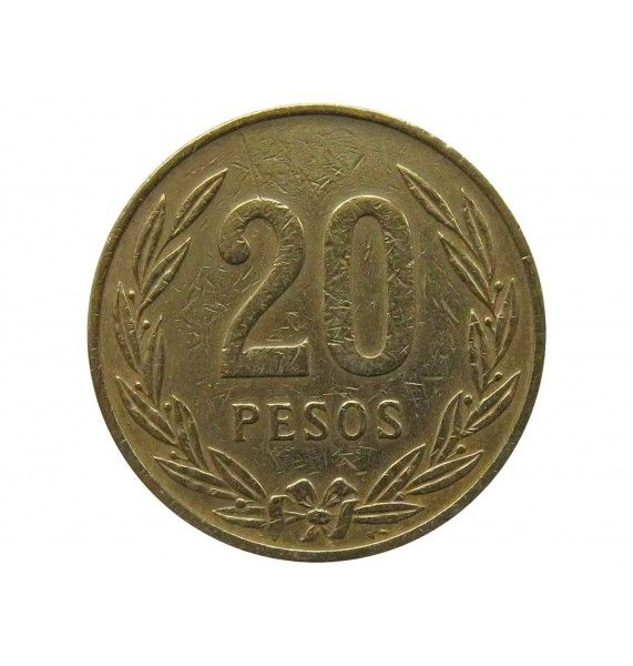 Колумбия 20 песо 1982 г.