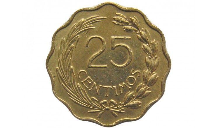 Парагвай 25 сентимо 1953 г.