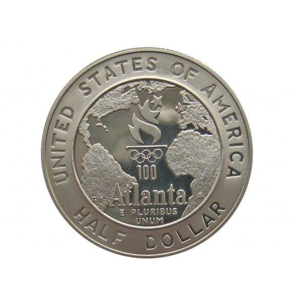 США 1/2 доллара 1995 г. (XXVI летние Олимпийские Игры, Атланта 1996 - Баскетбол)