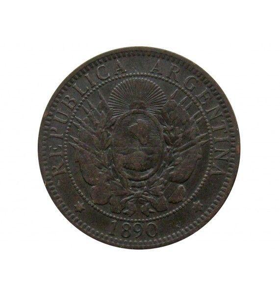 Аргентина 2 сентаво 1890 г.