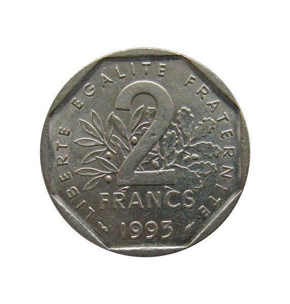 Франция 2 франка 1993 г. (50 лет Национальному движению сопротивления)