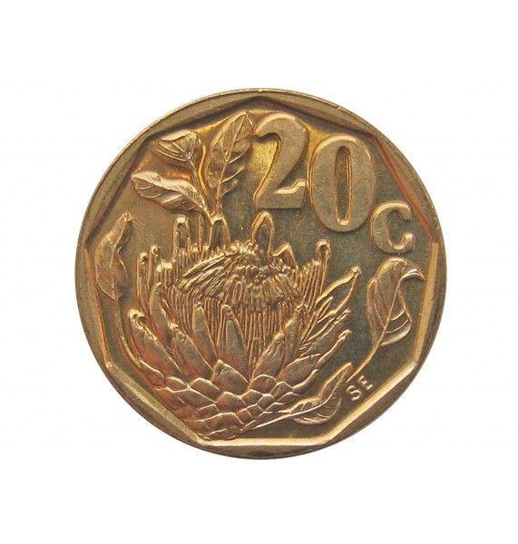 Южная Африка 20 центов 1992 г.