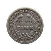 США 1/2 дайма 1843 г.