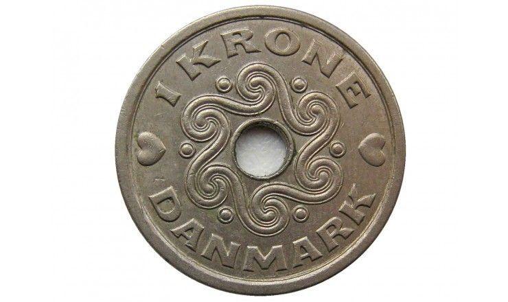 Дания 1 крона 1992 г.