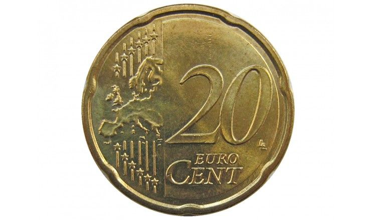 Австрия 20 евро центов 2013 г.