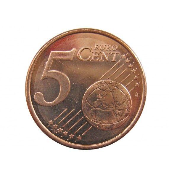 Финляндия 5 евро центов 2007 г.