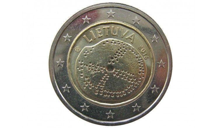 Литва 2 евро 2016 г. (Балтийская культура)