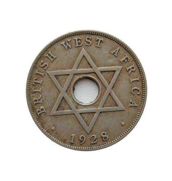 Британская Западная Африка 1 пенни 1928 г.