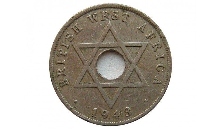 Британская Западная Африка 1 пенни 1943 г.