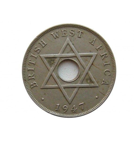 Британская Западная Африка 1 пенни 1947 г. SA