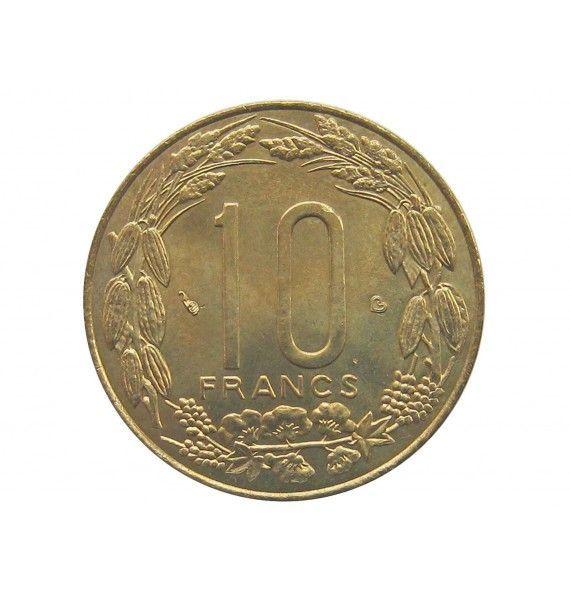 Центрально-Африканские штаты 10 франков 2003 г.