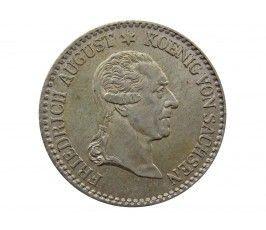 Саксония 1/6 талера 1827 г. (Смерть Короля Фридриха Августа I)