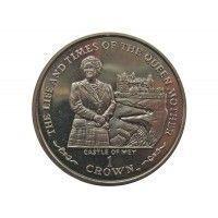 Остров Мэн 1 крона 2002 г. (Жизнь и время Королевы-Матери - Замок Мэй)