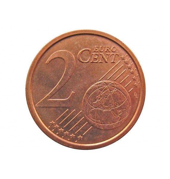 Италия 2 евро цента 2008 г.