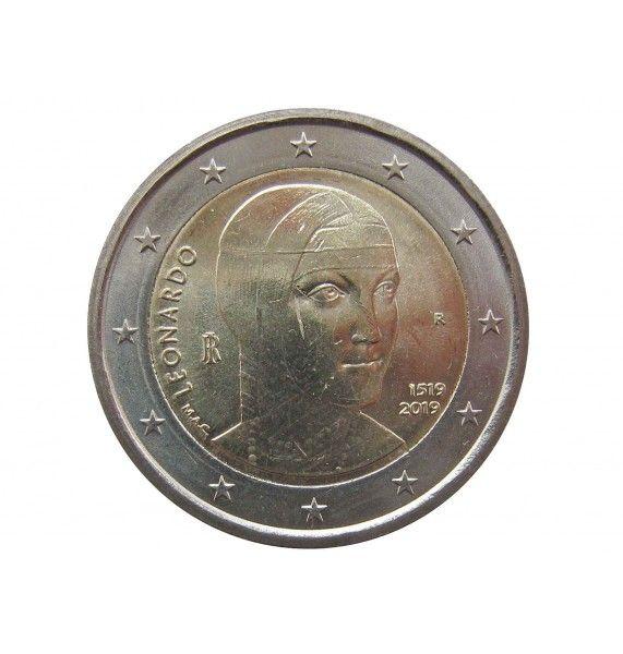 Италия 2 евро 2019 г. (500 лет со дня смерти Леонардо да Винчи)