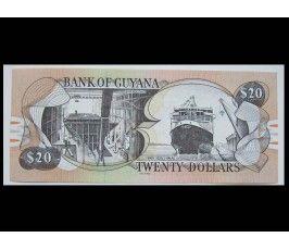 Гайана 20 долларов 2018 г.