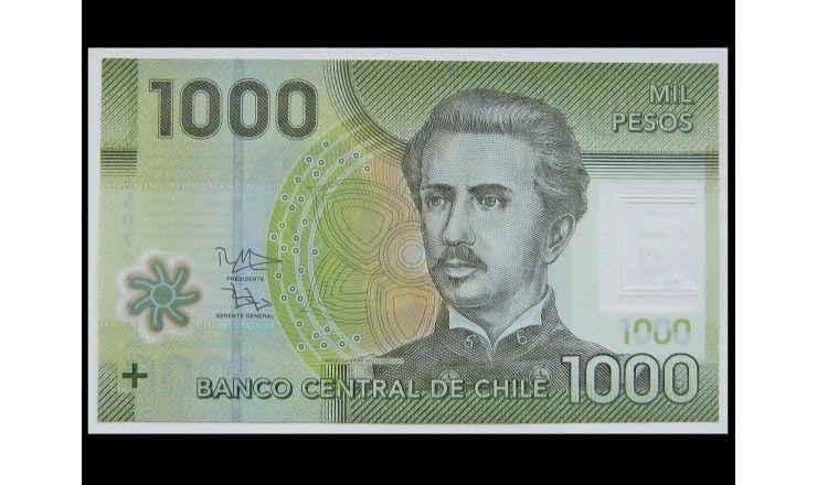Чили 1000 песо 2016 г.