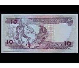 Соломоновы острова 10 долларов 1986 г.