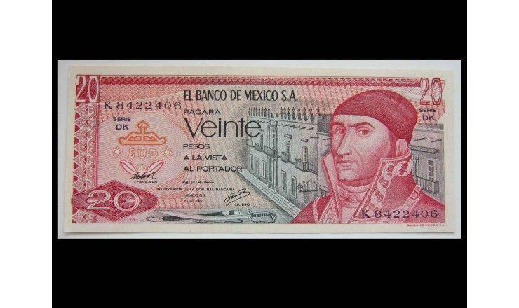 Мексика 20 песо 1977 г.