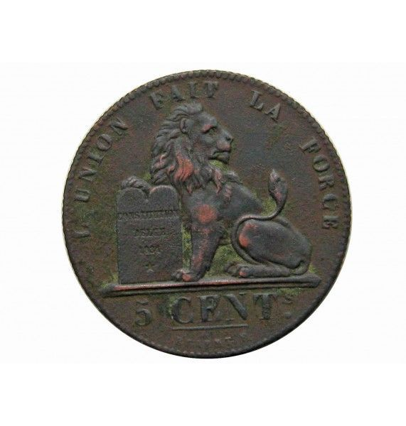 Бельгия 5 сантимов 1837 г.