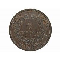 Франция 5 сантимов 1871 г. A