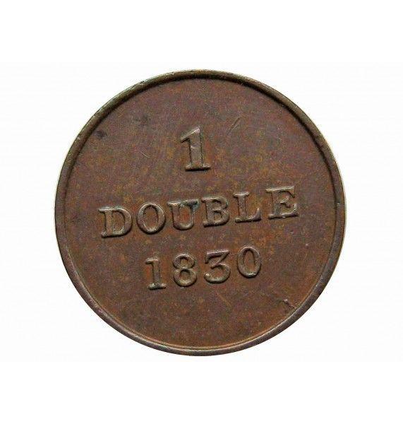 Гернси 1 дубль 1830 г.