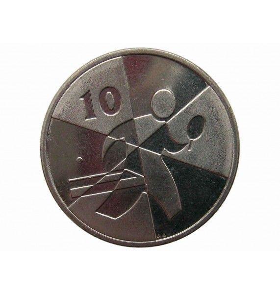 Гибралтар 10 пенсов 2019 г. (Островные игры)